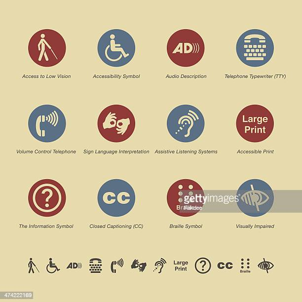 disability access icons - color series - sign language stock illustrations, clip art, cartoons, & icons