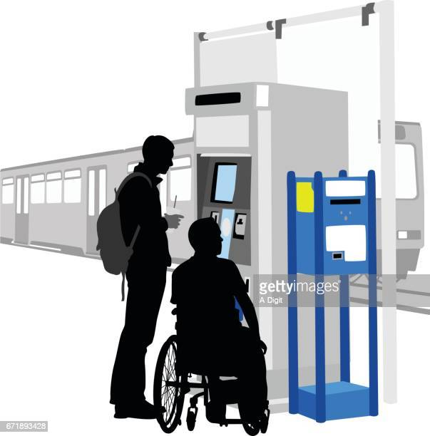 disability access public transportation - disabled access stock illustrations, clip art, cartoons, & icons