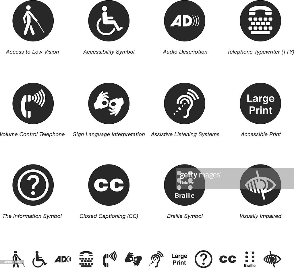 Disability Access Silhouette Icons