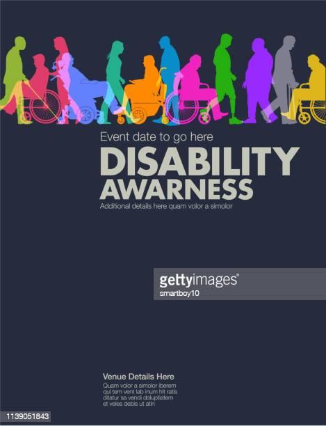ilustrações de stock, clip art, desenhos animados e ícones de disability awareness design template - direitos humanos