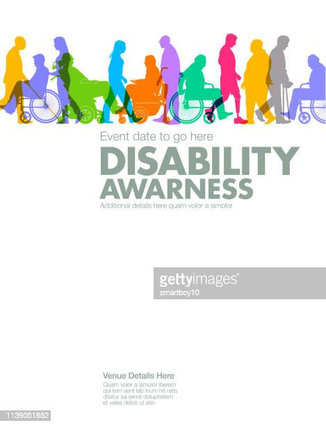 disability awareness design template - disability stock illustrations