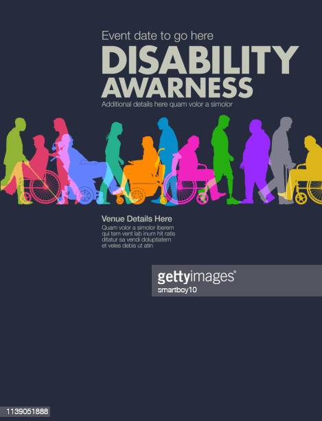 disability awareness design template - learning disability stock illustrations