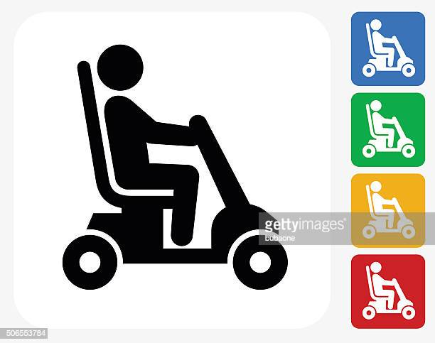 Disability Cart Icon Flat Graphic Design