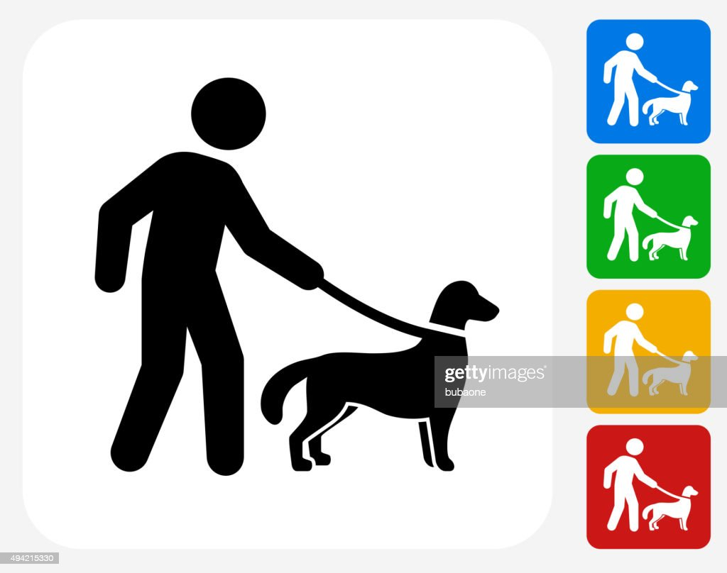 Disability Dog Icon Flat Graphic Design