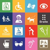 Disability Icons and Color Background