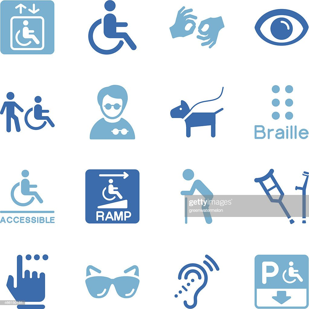 Disability Icons | Color Series