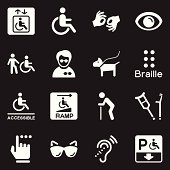 Disability Icons   White Series