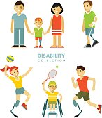 Disability people set