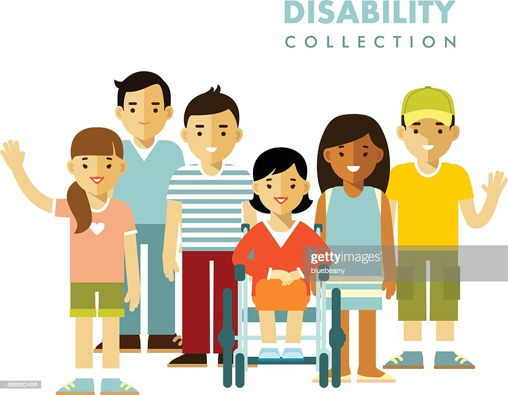 Disability person friendship concept