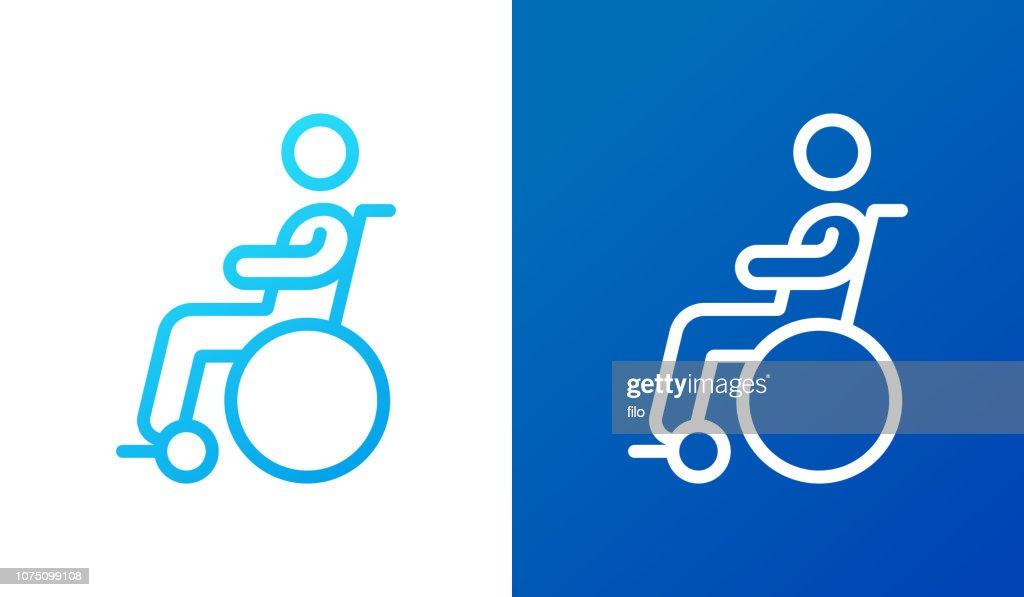 Símbolo de deficiência : Ilustração