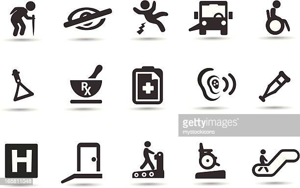 disability symbols - hearing aid stock illustrations, clip art, cartoons, & icons