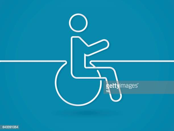 disability wheelchair symbol - disabled sign stock illustrations, clip art, cartoons, & icons