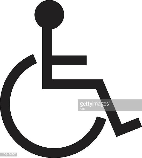 disable symbol - vector - paralysis stock illustrations, clip art, cartoons, & icons