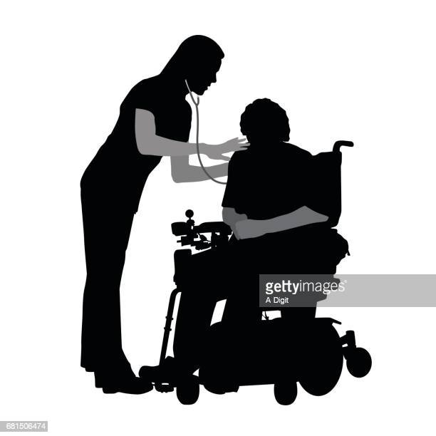 disabled assistance - paralysis stock illustrations, clip art, cartoons, & icons