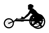 disabled athlete racer on wheelchair