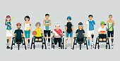 Disabled athletes