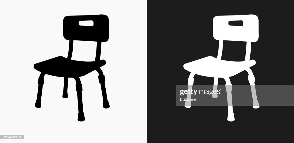 Disabled Chair Icon On Black And White Vector Backgrounds Vector Art ...
