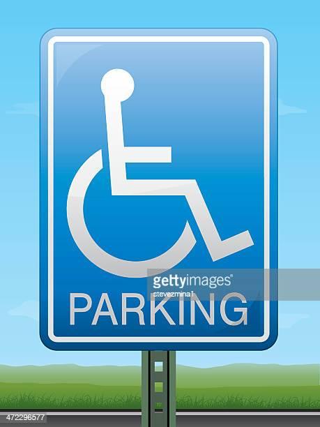 Señal de estacionamiento para personas con discapacidades