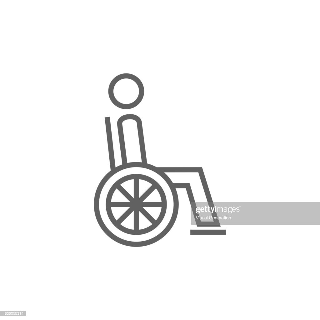 Disabled Person Line Icon Stock Illustration Getty Images