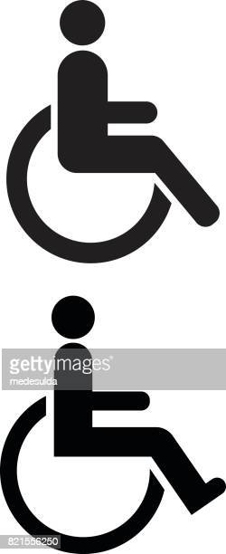 disabled sign - paralysis stock illustrations, clip art, cartoons, & icons
