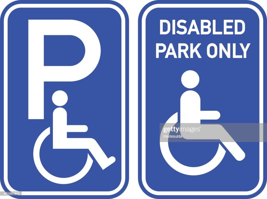 Disabled Sign : stock illustration