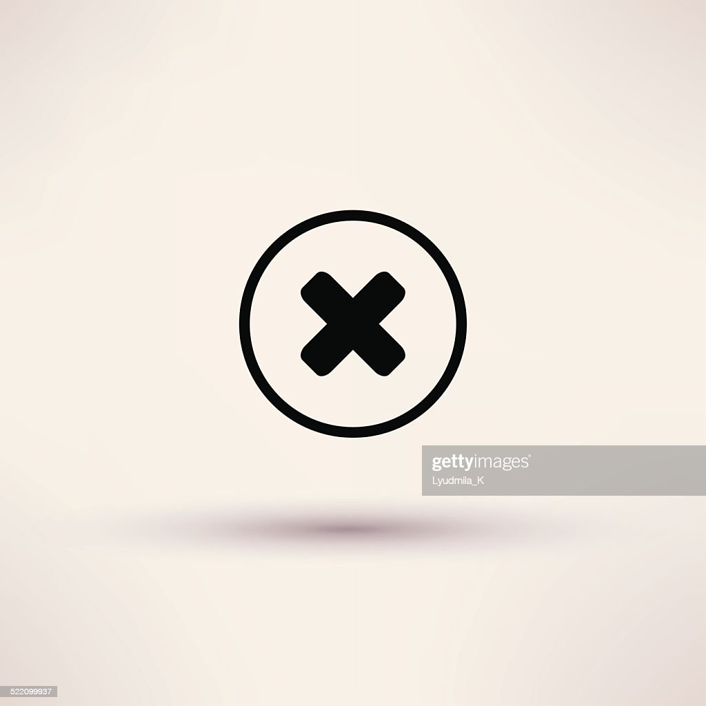 Disapprove check mark icon Isolated Vector illustration.