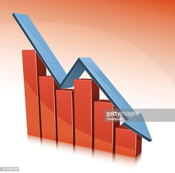 disaster graph - deterioration stock illustrations