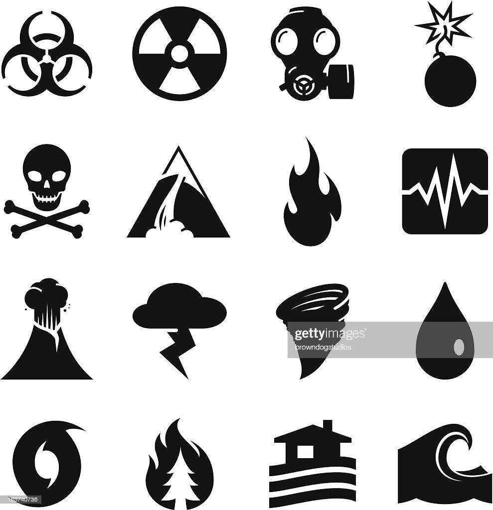 Disaster Icons - Black Series