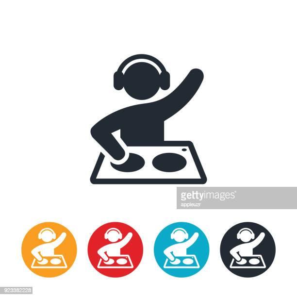 disc jockey icon - dj stock illustrations