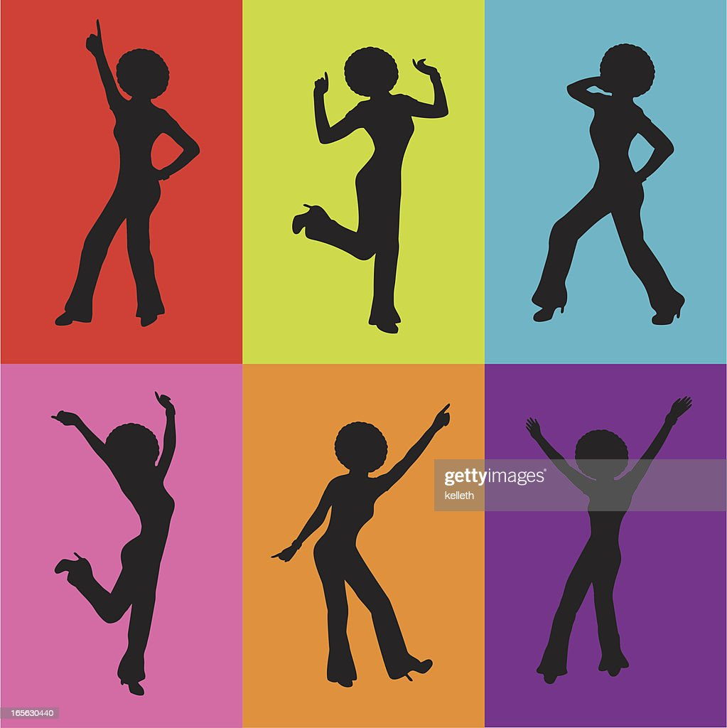 Disco Lady Silhouettes