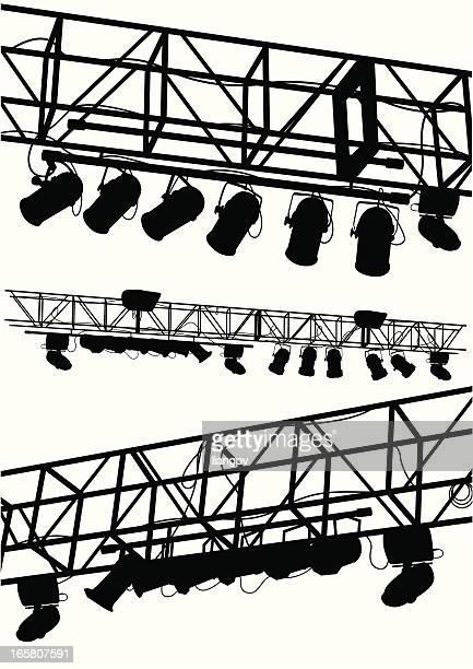 ilustraciones, imágenes clip art, dibujos animados e iconos de stock de luz de discoteca - luz de escenario