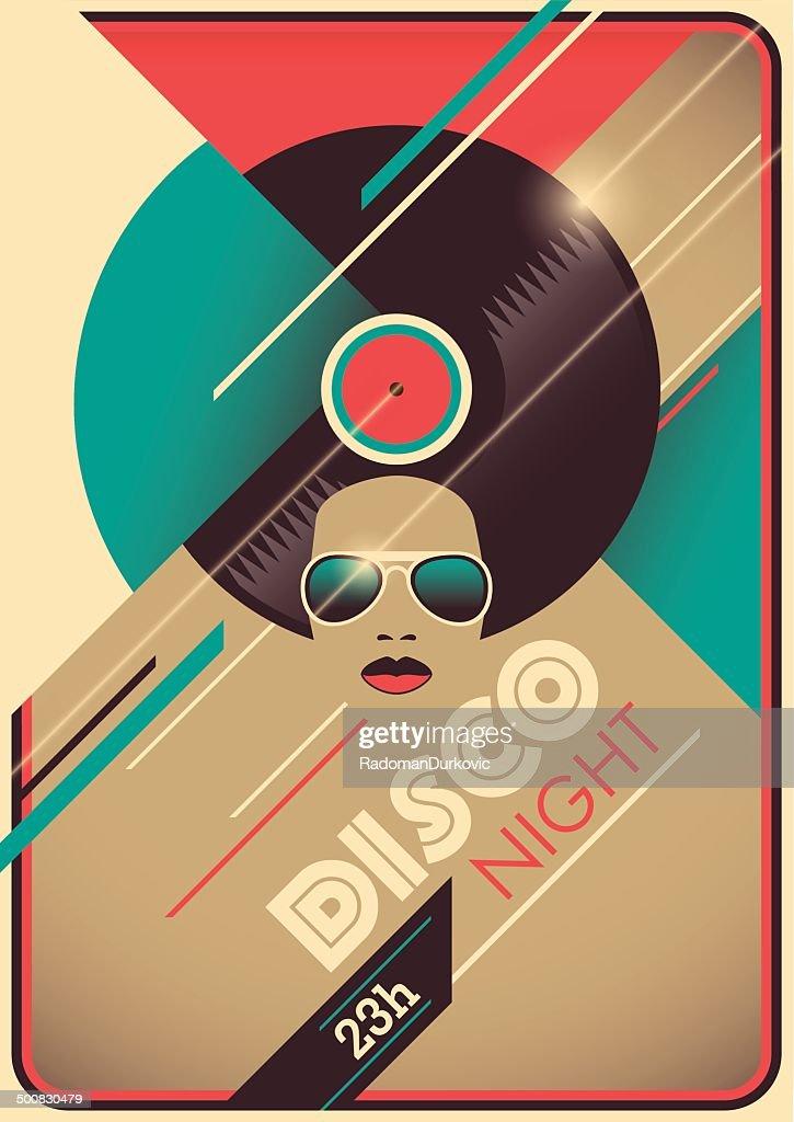 Disco night poster design.