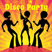 Disco party. Vector illustration.