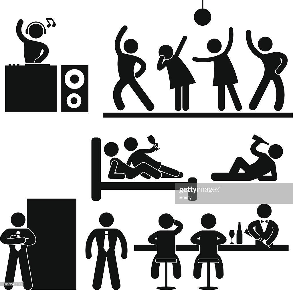 Disco Pub Night Club Party Pictogram