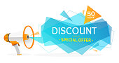 Discount Banner Sticker. Vector
