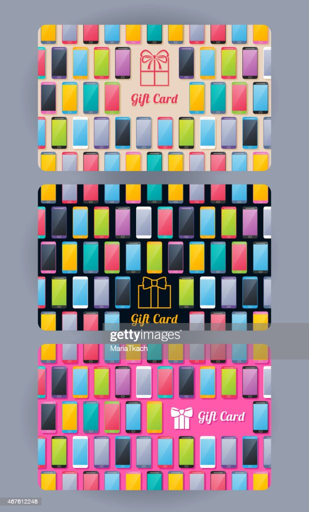 Discount cards set. Abstract background