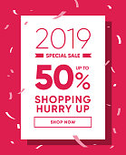 Discount Coupon 50% OFF Sale. Best Price Promo Holiday Special Offer Banner. Discount Promotion 50% Offer Ad. Vector Illustration Design Template for Flyer or Poster.