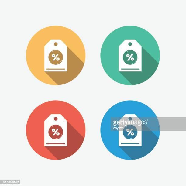 Discount Multi Colored Circle Flat Icon
