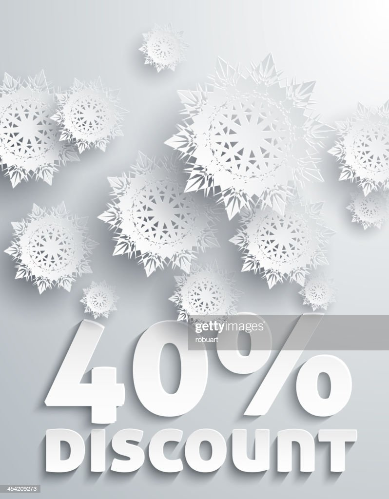 Discount percent : Vector Art