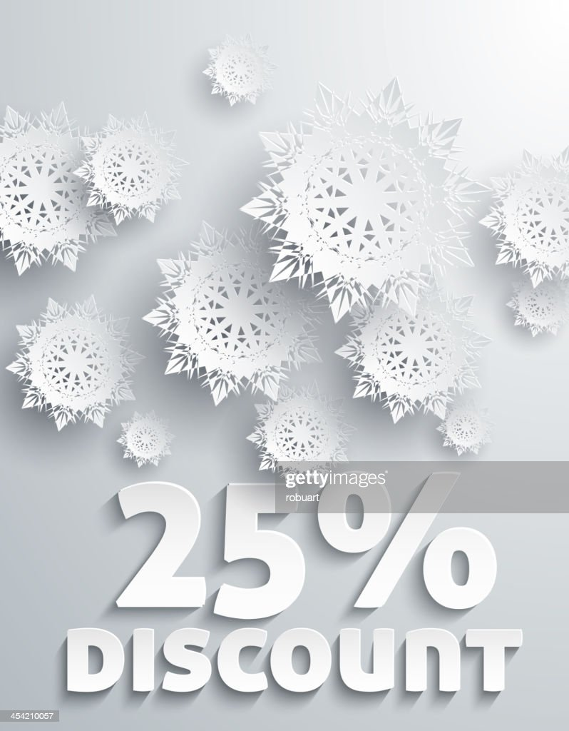 Discount percent : Vector Art