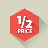 Discount polygon button