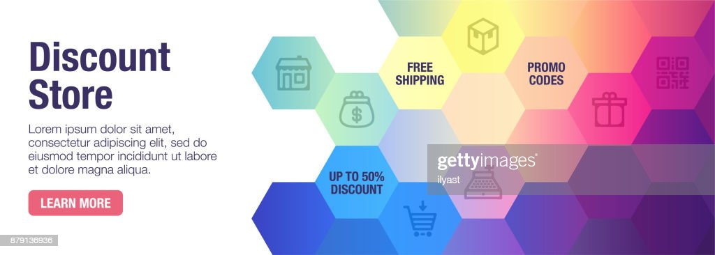 Discount Store Banner : stock illustration