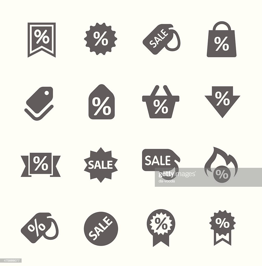 Discount tags icons