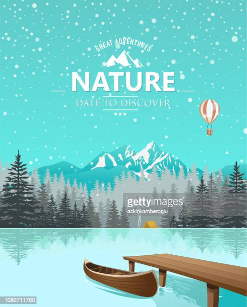 discover - lake stock illustrations