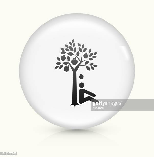 discovering gravity icon on white round vector button - gravitational field stock illustrations