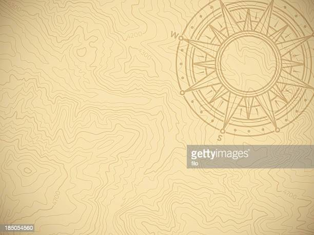 discovery topographic map background - history stock illustrations