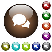 Discussion color glass buttons