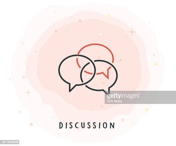 Discussion Icon with Watercolor Patch