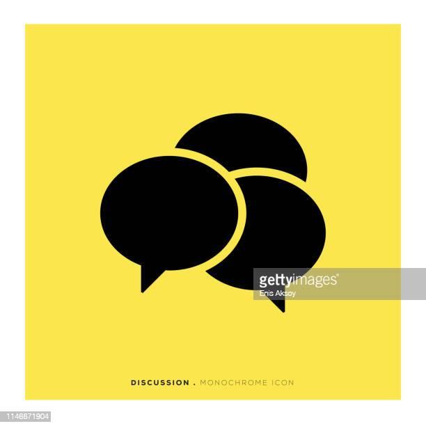 discussion monochrome icon - toned image stock illustrations