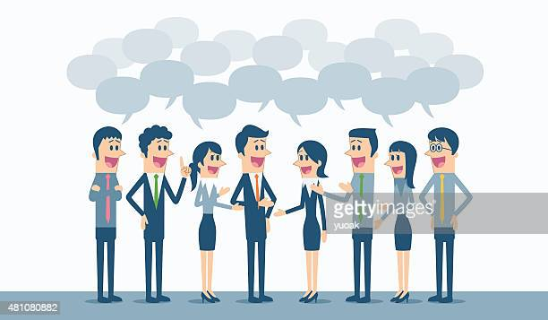 discussion - assertiveness stock illustrations, clip art, cartoons, & icons